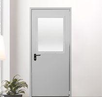 Противопожарные двери с остеклением более 25% площади