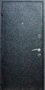 Входная стальная дверь Бамбук (чёрный бархат+венге)